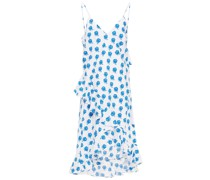 Kleid aus Baumwollpopeline mit Floralem Print und Rüschen