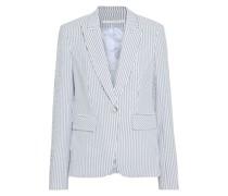 Cutaway Dickey Striped Cotton-blend Seersucker Blazer