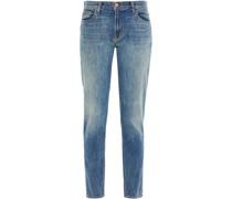 Ellis Halbhohe Jeans mit Geradem Bein in ausgewaschener Optik