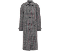Woman Marcia Belted Houndstooth Wool-blend Coat Anthracite