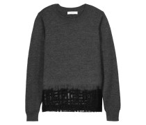 Mesh-paneled Wool Sweater Schiefer