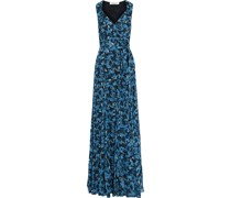 Brennan Floral-print Georgette Maxi Wrap Dress