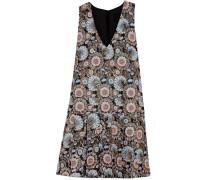 Collection Metallic Floral-jacquard Dress Schwarz