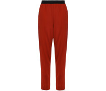 Gathered Crepe-jersey Tapered Pants