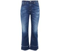 Halbhohe Kick-flare-jeans in ausgewaschener Optik