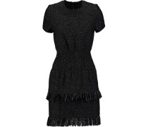Rabata Tiered Tweed Mini Dress Schwarz