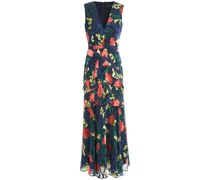 Lara Ruffled Burnout Chiffon Maxi Dress