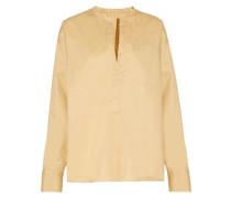 Niza pleated cotton-poplin shirt