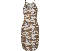 Rica ruched printed stretch-jersey dress