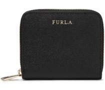 Textured-leather Wallet Black Size --