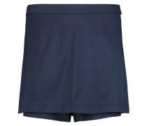 Layered Stretch-silk Twill Mini Skirt Mitternachtsblau