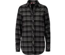 Plaid Cotton-flannel Shirt Schwarz