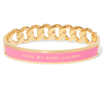 Katie Gold-tone Enamel Bangle Pink