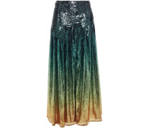 Dégradé Sequined Tulle Maxi Skirt