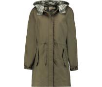 Shell Hooded Coat Armeegrün