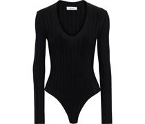 Fedora Pointelle-knit Bodysuit