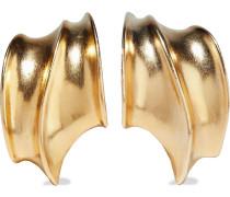 24-karat -plated Clip Earrings