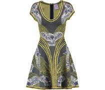 Jacquard-knit Mini Dress Mehrfarbig