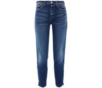 Nicoline Cropped Frayed High-rise Slim-leg Jeans