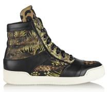 Kol Printed Canvas High-top Sneakers Mehrfarbig