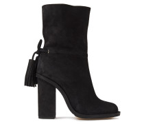 Tasseled Suede Boots