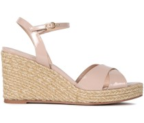 Rosemarie Patent-leather Espadrille Wedge Sandals