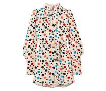 Tania Minikleid aus Beflocktem Chiffon mit Polka-dots