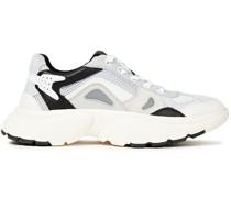 Sneakers aus Veloursleder, Mesh und Leder