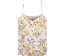 Ellie Leaping floral-print stretch-silk camisole