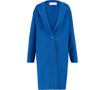 Felted Wool-blend Coat Kobaltblau