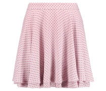 Ruffled Polka-dot Crepe Mini Skirt Lavendel