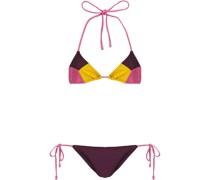 Triangel-bikini in Colour-block-optik