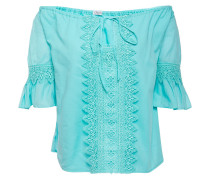 Off-the-shoulder Crocheted Lace-trimmed Cotton-blend Voile Top