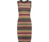 Cutout Crochet-knit Dress Mehrfarbig