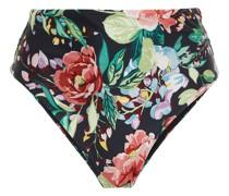Hoch Sitzendes Bikini-höschen mit Floralem Print