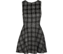 Monah checked felt mini dress