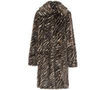 Tiger-print Faux Fur Coat