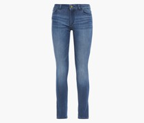Woman Faded Mid-rise Skinny Jeans Mid Denim