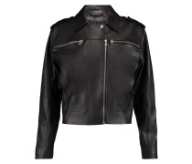 Maisie Leather Biker Jacket Schwarz