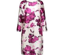 Floral-print Silk Dress Magenta
