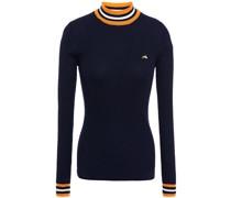 Pullover aus Gerippter Wolle mit Streifen