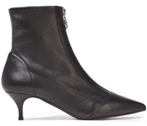Zippy Leather Ankle Boots