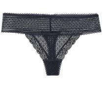 Katie Kissing Stretch-lace Mid-rise Thong