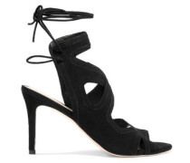 Leila lace-up suede sandals