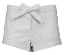 Herringbone Cotton Pajama Shorts Hellgrau