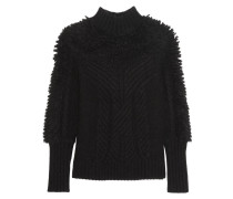 Nell Cable-knit Wool-blend Turtleneck Sweater Schwarz