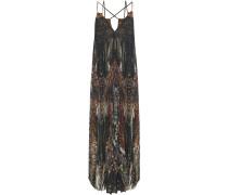 Crystal-embellished Printed Georgette Jumpsuit