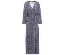 Sylvette Bedrucktes Midi-wickelkleid aus Glänzendem Jersey