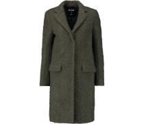 Wool-blend Bouclé Coat Armeegrün