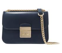 Leather Shoulder Bag Navy